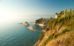 Cape Drastis at sunset, Corfu Island, Greece Stock Photos