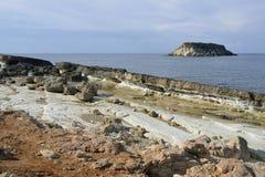 Cape Drepano & Geronisos Island Royalty Free Stock Photography