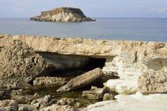 Cape Drepano & Geronisos Island Stock Photos
