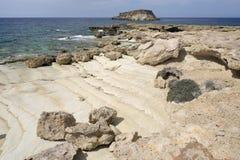 Cape Drepano & Geronisos Island Royalty Free Stock Image