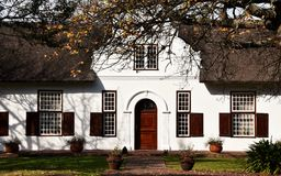 Cape Dutch Farm House Stock Photo