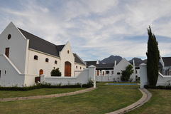 Cape dutch homestead winelands south africa Royalty Free Stock Photos