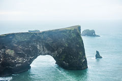 Cape Dyrholaey on the Atlantic coast, Iceland. Cape Dyrholaey on the Atlantic coast, southern Iceland stock image