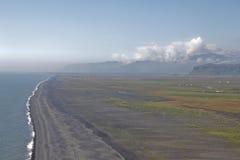 Cape dyrholaey beach Stock Photo