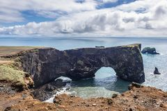 Cape Dyrholaey in Iceland royalty free stock images