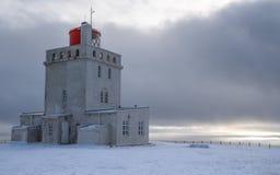 Cape Dyrholaey lighthouse, Vik, Iceland stock image