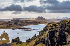 Cape Dyrholaey at southern Iceland in Europe royalty free stock photography