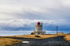 Cape Dyrholaey at southern Iceland in Europe stock photos