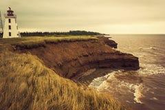 Cape Egmont Lighthouse in Prince Edward Island Stock Image