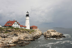 Cape Elizabeth Lighthouse Stock Images