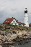 Cape Elizabeth Lighthouse Stock Photo