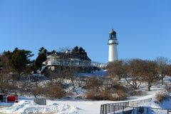 Cape Elizabeth Lighthouse, Maine, USA Royalty Free Stock Photo