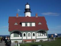 Cape Elizabeth lighthouse portland head light fort williams park maine Royalty Free Stock Photography