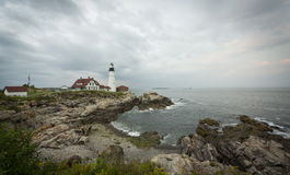 Cape Elizabeth Lighthouse Royalty Free Stock Photos