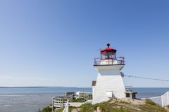 Cape Enrage Lighthouse in the Bay of Fundy. New Brunswick, Canada Stock Photography