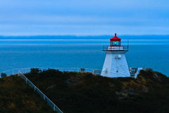 Cape Enrage Lighthouse at Dawn Royalty Free Stock Images