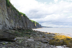 Cape Enrage, New Brunswick, Canada. Dramatic cliifs of Cape Enrage along the Bay of Fundy, in New Brunswick, Canada Royalty Free Stock Photo
