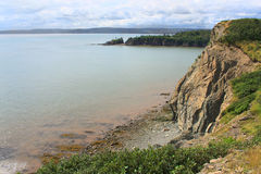 Cape Enrage, New Brunswick, Canada. Dramatic cliifs of Cape Enrage along the Bay of Fundy, in New Brunswick, Canada Stock Photography