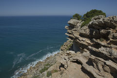 Cape Espichel eroded rocks Royalty Free Stock Photography