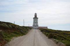 Cape Espichel lighthouse. The lighthouse of Espichel in portugal Royalty Free Stock Photo