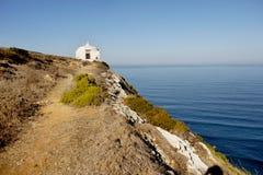 Cape Espichel, Memory Chapel, Portugal Stock Photos