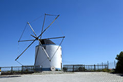 Cape Espichel Windmill, Portugal Stock Photo