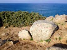 Cape Estaca de Bares είναι ένας ακρωτήριο και ένα ακραίο βόρειο σημείο της ιβηρικής χερσονήσου στοκ φωτογραφία