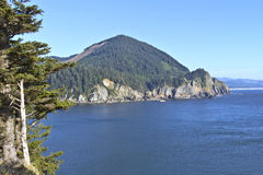 Cape Falcon viewpoint Oregon coast. Royalty Free Stock Photos