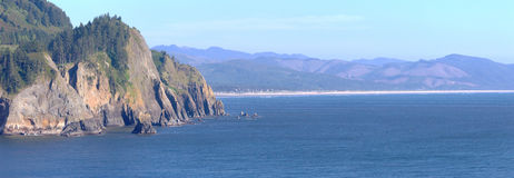 Cape Falcon viewpoint Oregon coast panorama. Stock Images