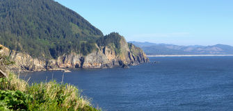 Cape Falcon viewpoint Oregon coast panorama. Stock Photos