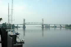 Cape Fear Bridge royalty free stock photo