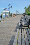 Cape Fear River downtown river walk. Relax by the waterfront in Wilmington, North Carolina Stock Photography