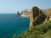 The cape Fiolent 2. The cape Fiolent in the Crimea Stock Images