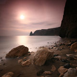 Cape Fiolent Sunset. A long exposured sunset at Saint Fiolent Cape Royalty Free Stock Photo