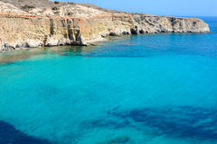 Cape Firiplaka, Melos, Greece Royalty Free Stock Image
