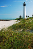 The Cape Florida Light in Key Biscayne Stock Photos
