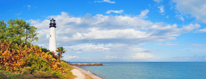 Cape Florida Light panorama Royalty Free Stock Photography