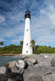 Cape Florida lighthouse in Bill Baggs Stock Image