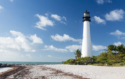 Cape Florida lighthouse in Bill Baggs Royalty Free Stock Photography