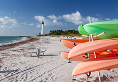 Cape Florida lighthouse in Bill Baggs Stock Photos