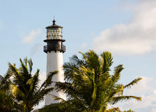 Cape Florida lighthouse in Bill Baggs stock images
