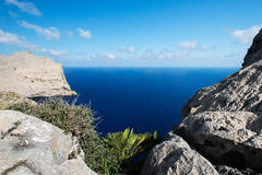 Cape Formentor in the coast of Majorca Royalty Free Stock Images