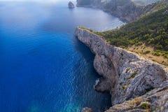 Cape Formentor in the coast of Mallorca Stock Photos