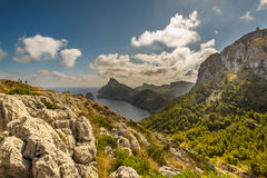 Cape Formentor in the coast of Mallorca Royalty Free Stock Photography