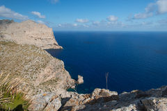 Cape Formentor in the coast of Mallorca Stock Photography