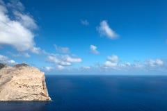Cape Formentor in the coast of Mallorca Stock Image