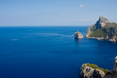 Cape Formentor in the coast of Mallorca, Spain Royalty Free Stock Image