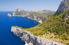Cape Formentor in the Coast of North Mallorca Royalty Free Stock Images