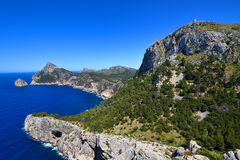 Cape Formentor on the island of Majorca Stock Image