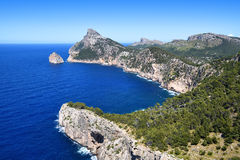 Cape Formentor on the island of Majorca Royalty Free Stock Images